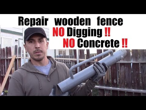 How to repair wood fence without digging or using concrete. Grip Rite