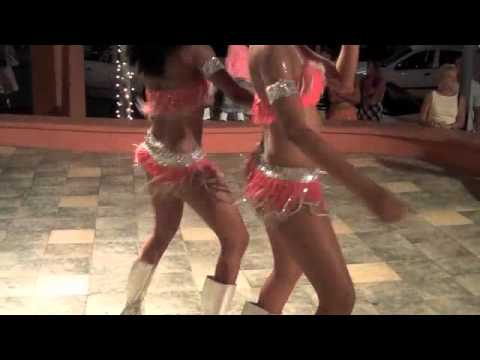 The St Martin Casino Royale Dancers take to the streets