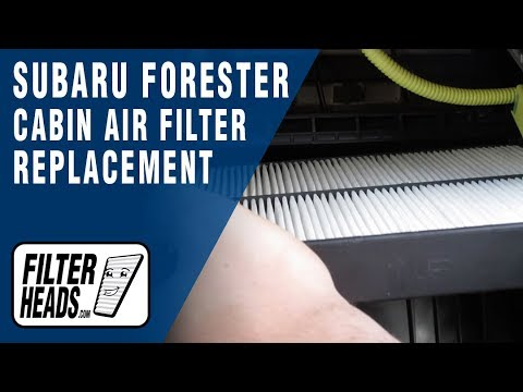 How To Replace Cabin Air Filter 2006 Subaru Forester