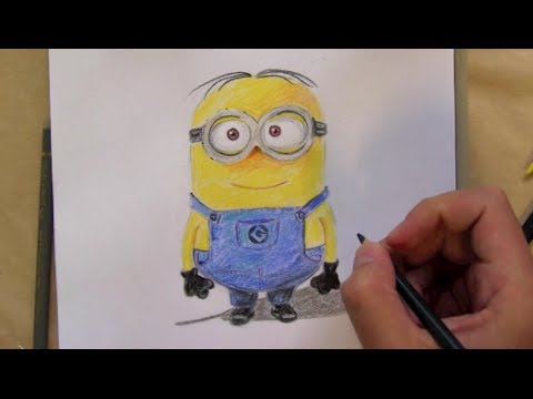 comment dessiner un minion de moi moche et mechant youtube. Black Bedroom Furniture Sets. Home Design Ideas