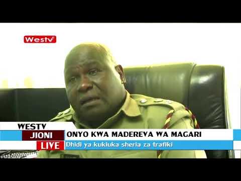 Derev wa magari waonywa kutovunja sheria za trafiki mjini Kakamega