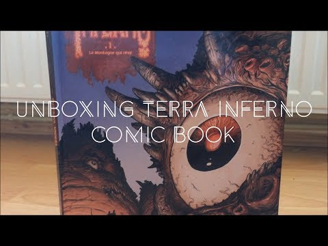 Unboxing Terra Inferno Comic Book Hardcover