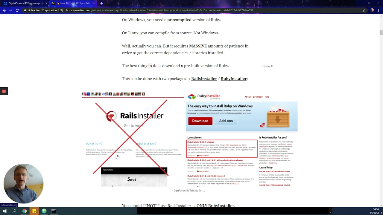 💊 How To Install #RubyonRails 💊 on Windows 7/8/10