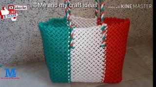 plastic wire crosscut koodai| Tri colour Shivan kan crosscut koodai