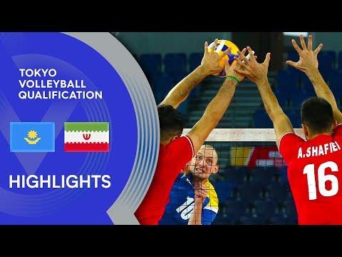 Kazakhstan vs. Iran - Highlights   AVC Men's Tokyo Volleyball Qualification 2020