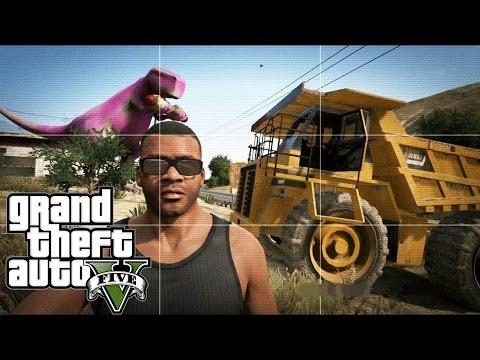 Grand Theft Auto V   EASTER EGG HUNTING   TONKA TRUCK,SEA MONSTER & BARNEY