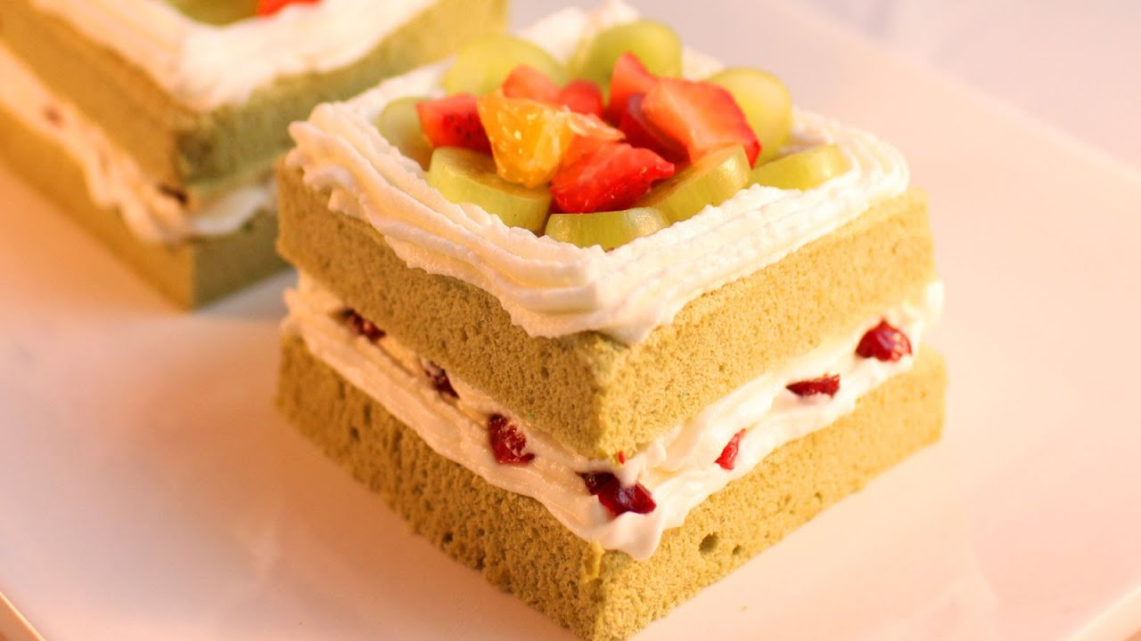 Green Tea Cake Recipe Japanese: Green Tea Cake Recipe / Matcha Cake / 抹茶蛋糕