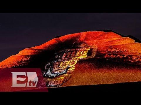 Pirámides de Teotihuacán se iluminan con espectáculo nocturno/ Atalo Mata