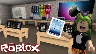 BLOXBURG - I MAKE AN APPLE STORE IN ROBLOX