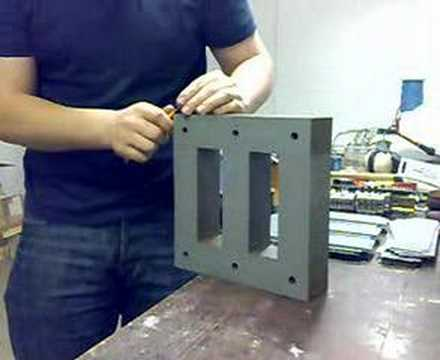 Disassembling Laminated Transformer Core Youtube