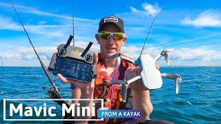 How to hand launch and land a DJI Mavic Mini off a kayak.