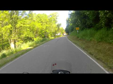 Border crossing France Germany BMW R 1150 GS- Alsace moto