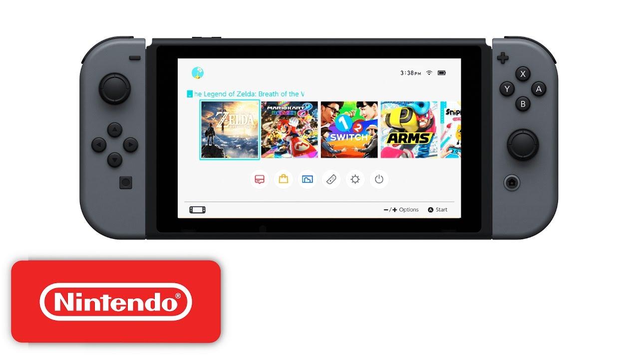 Nintendo Switch Home Menu Youtube