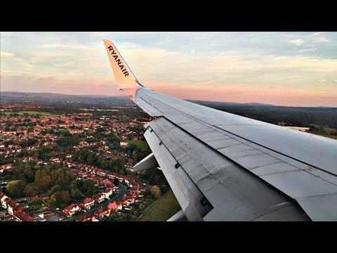 Ryanair Boeing 737-800 SUNSET LANDING at Manchester Airport | ✈