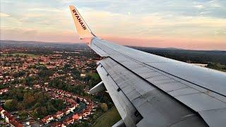 Ryanair Boeing 737-800 SUNSET LANDING at Manchester Airport   ✈