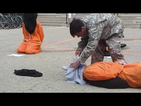 Guantanamo Bay Protest Waterboarding   YouTube