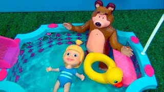 Video Masha and The Bear - SWIMMING POOL - TOY STORY  #MASHA #MASHAEOURSO #BEARMASHA #MASHA #MASHAEOURSO download MP3, 3GP, MP4, WEBM, AVI, FLV Mei 2018