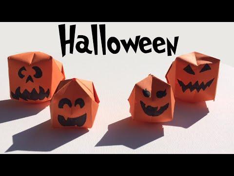 Halloween Werkjes.Halloween Pompoenen Vouwen Fun Origami Halloween Pumpkins