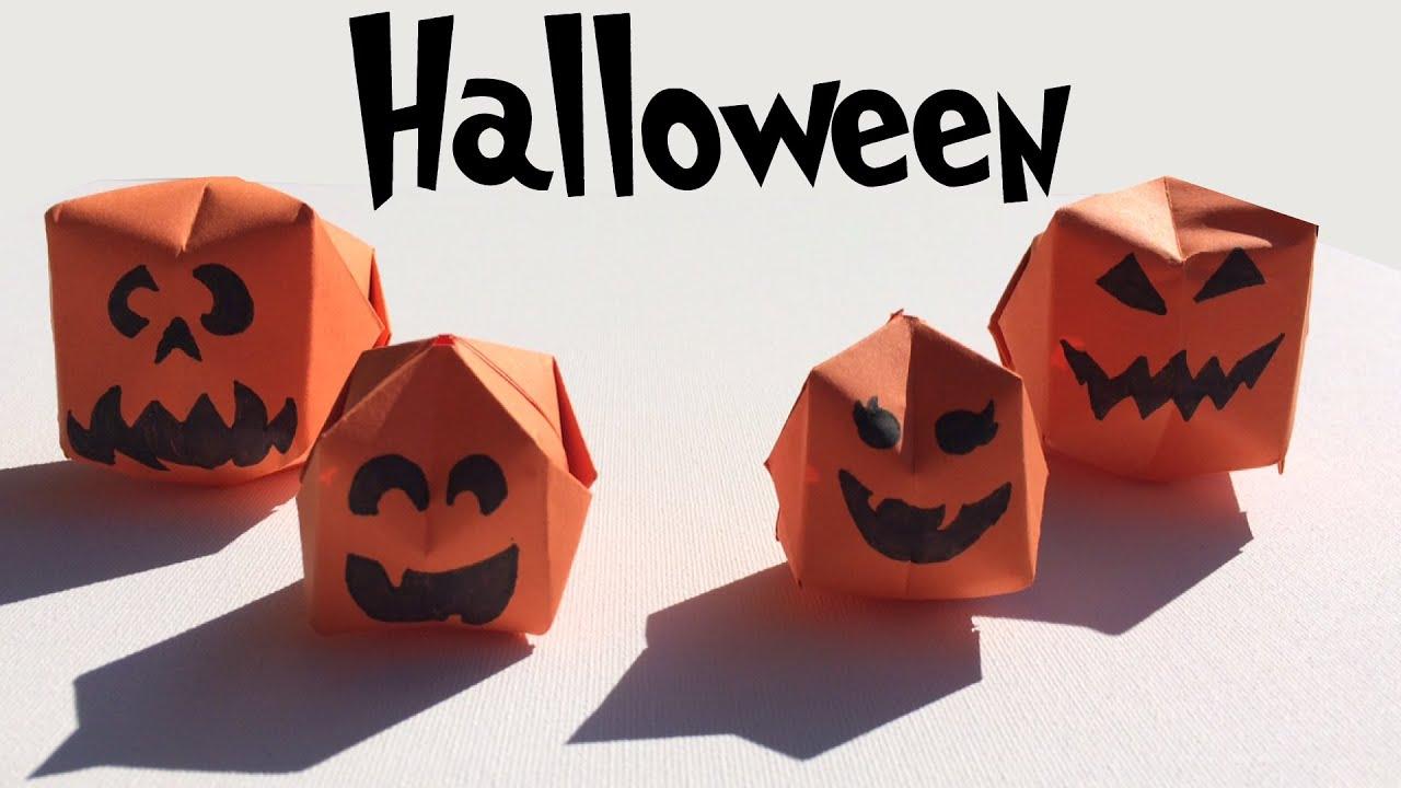 Halloween pompoenen vouwen fun origami halloween for Halloween versiering maken