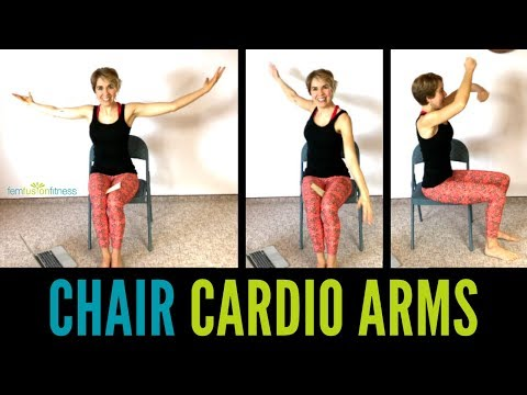 No Weights Seated Upper Body Cardio | Quick Arm Workout In A Chair!