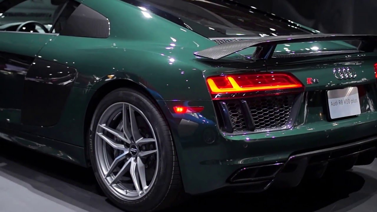 2017 Audi R8 V10 1 Of 1 In Goodwood Green Nyias Close Up Details Youtube