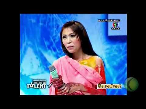 ปอน ดวงใจ ถอดเสื้อวาดรูปThailand's Got Talent 17 06 2555