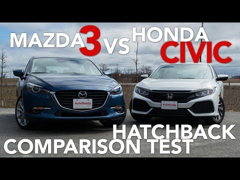 2017 Mazda3 Hatchback vs 2017 Honda Civic Hatchback