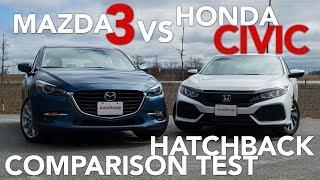 2017 Mazda3 Hatchback vs 2017 Honda Civic Hatchback