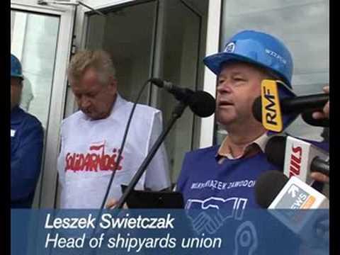 Polish shipyard workers protest EU competition ultimatum
