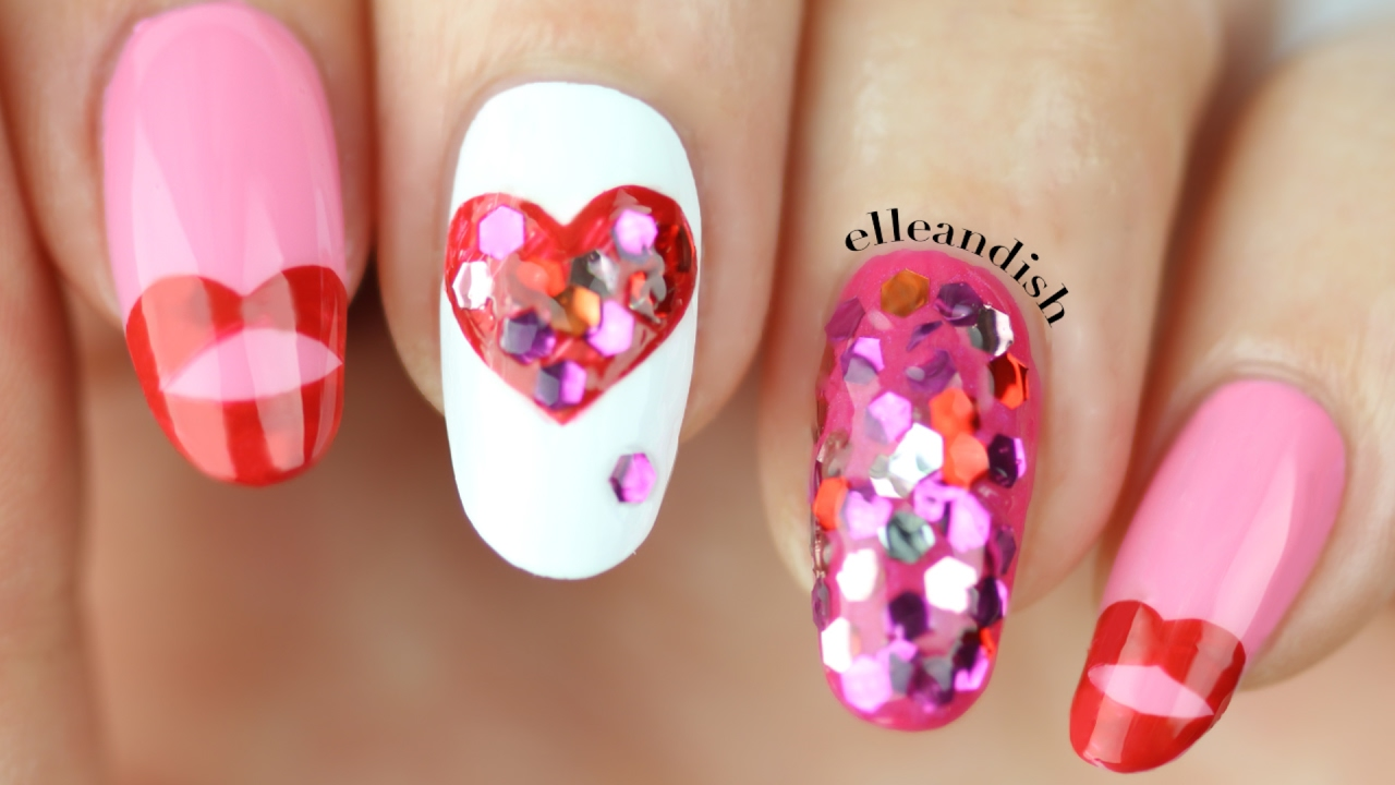 Valentine S Day Nails Youtube