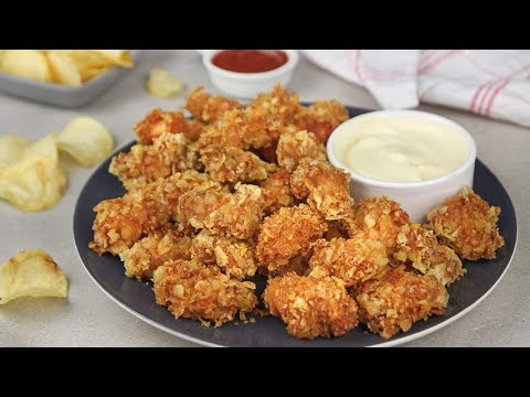 Chicken tots crunchy and irresistible