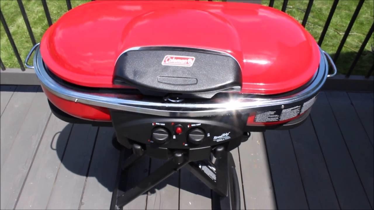 e29ef11b88c Coleman Road Trip Propane Portable Grill LXE - YouTube