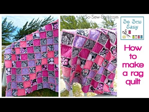 How To Make A Rag Quilt Sewing Tutorial For Beginners