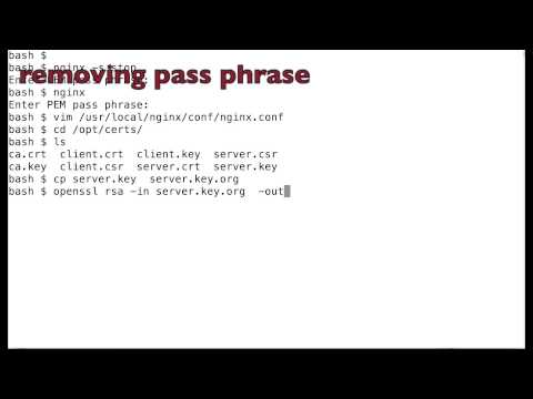 openssl how to remove pem pass phrase nginx
