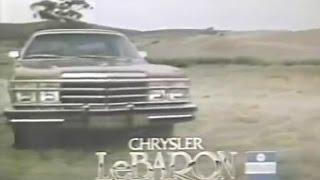 1979 Chrysler LeBaron TV Ad