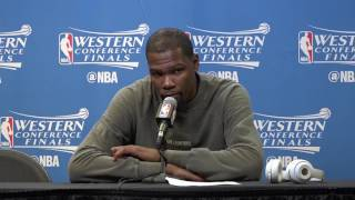 Warriors-Spurs Game 3: Durant on noncompetitive playoffs