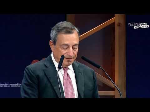 Mario Draghi al Meeting di Rimini: 'I sussidi finiscono, ai giovani bisogna dare di più' (18.08.20)