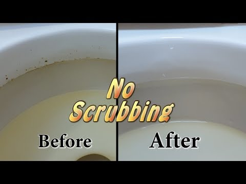 How to easily clean hard toilet stains WITHOUT SCRUBBING!