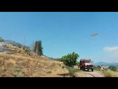 Fire in asopia greece, but with the help of fire brigade and Extraco s.a everything under control.