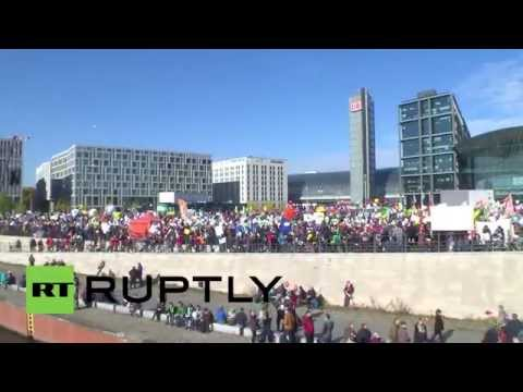 Germany: Thousands protest against TTIP in Berlin