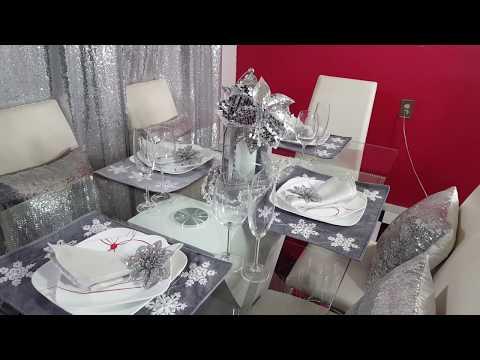 DIY💜💎 como arreglar tu mesa elegante y glamourosa/ glamours table