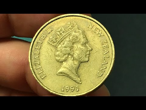 1991 New Zealand 2 Dollars Coin •Values, Information, Mintage, History, And More