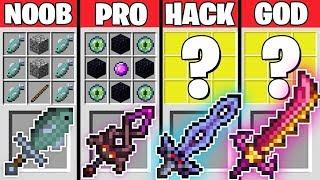 Minecraft Battle / EPIC SWORD CRAFTING CHALLENGE - NOOB vs PRO vs HACKER vs GOD Minecraft Animation