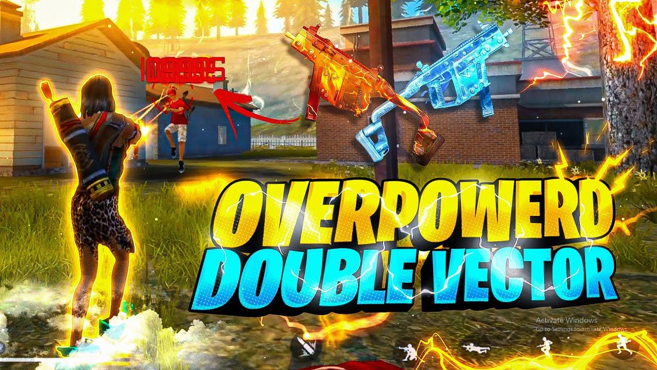 New Double Vector🔥 Aquablaze Wrath Skin Gameplay Good Or Bad ? - Garena Free Fire