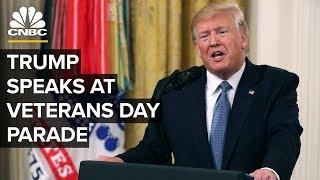 President Trump speaks at New York City's Veterans Day parade – 11/11/2019