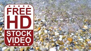 FREE HD video backgrounds – GoPro Hero 4 footage beachside stones pebble and sea water