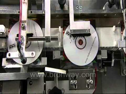 Bronway CD/DVD Sleeve Insertion Machine.