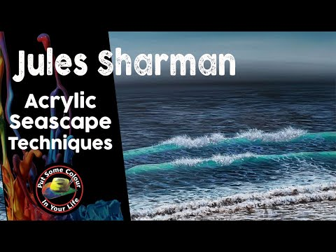 Painting Tutorial Acrylic Seascape Techniques with Jules Sharman | Colour In Your Life