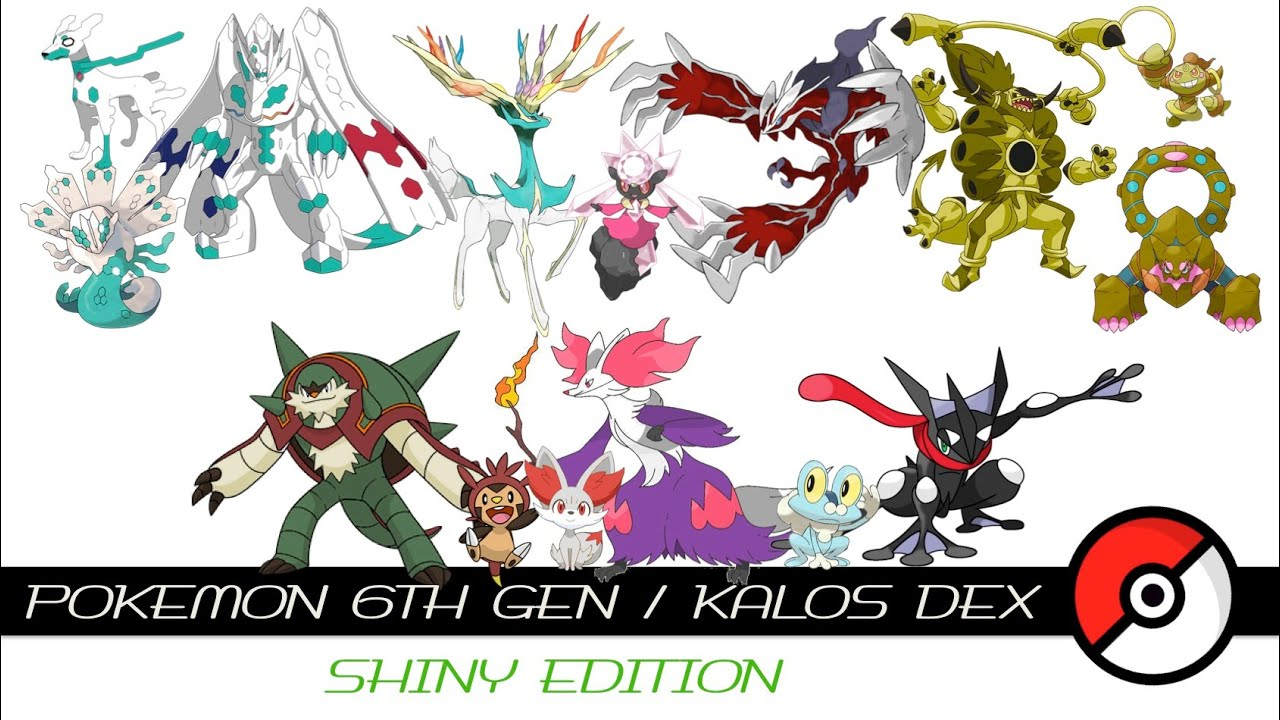 Pokemon 6th Gen / Kalos Dex (Shiny) - YouTube