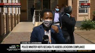 COVID-19 Lockdown | Police minister visits Secunda to assess lockdown compliance